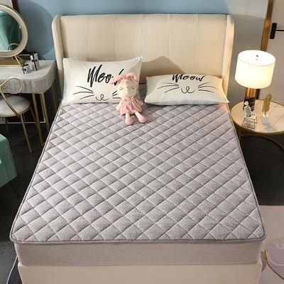 2020新款牛奶绒床垫 网红热款床垫 防滑可机洗保暖床褥子 防滑地垫 支持定制 0.9x2.0m 灰色