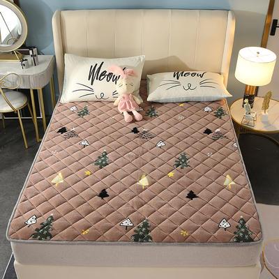 2020新款牛奶绒床垫 网红热款床垫 防滑可机洗保暖床褥子 防滑地垫 支持定制 0.9x2.0m 木槿