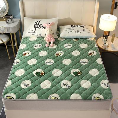 2020新款牛奶绒床垫 网红热款床垫 防滑可机洗保暖床褥子 防滑地垫 支持定制 0.6x1.2m 牛油果