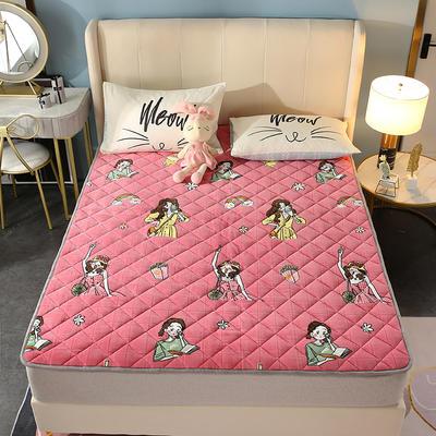 2020新款牛奶绒床垫 网红热款床垫 防滑可机洗保暖床褥子 防滑地垫 支持定制 0.6x1.2m 元气少女