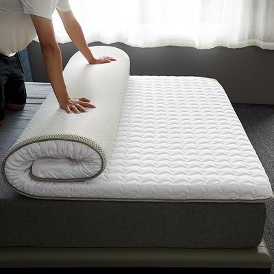 2020新款全棉大豆纤维抗菌床垫-成人款 1.0x2.0米 白色