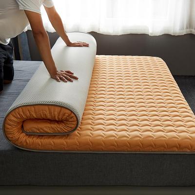 2020新款全棉大豆纤维抗菌床垫-成人款 1.0x2.0米 驼色