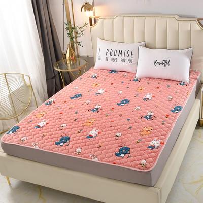2020新款法莱绒保暖床褥床垫 0.9x2.0米 动物乐园