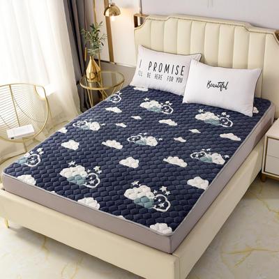 2020新款法莱绒保暖床褥床垫 0.6x1.2米(定做尺寸) 云朵