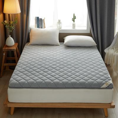 2021新款羊羔绒床垫 1.0x2.0米 灰色