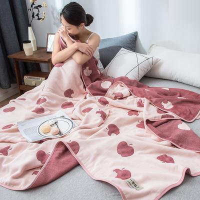 2020新款60s纱布毛巾被 90*100cm 苹果-红