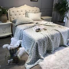2018新款立体臻棉多用式夏被床盖沙发盖毯 200X230cm 暗香-豆绿