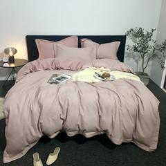 2019新款全棉色织拉绒四件套 1.5m(5英尺)床 粉