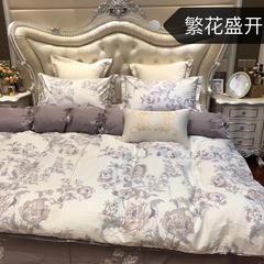 13376全棉活性面料AB版四件套 标准1.5m-1.8m床 繁华盛开