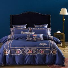 60S系列 60贡缎长绒棉系列套件-罗拉蓝(棚拍) 1.5m/1.8m床 长绒棉套件-罗拉蓝