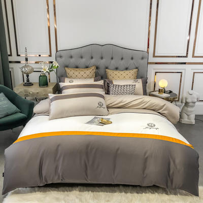 2020新款-轻奢商务系列四件套-可另配信封枕-有床笠款手机实拍图 可选配信封枕元/对 凯撒