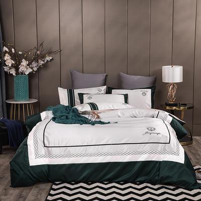 2020新款-轻奢商务系列四件套-可另配信封枕-有床笠款影棚图2 可选配信封枕元/对 格拉德