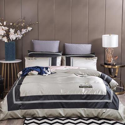 2020新款-轻奢商务系列四件套-可另配信封枕-有床笠款影棚图2 可选配信封枕元/对 格洛瑞拉