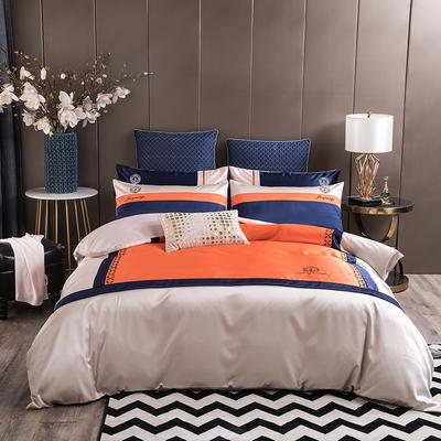 2020新款-轻奢商务系列四件套-可另配信封枕-有床笠款影棚图2 可选配信封枕元/对 罗卡
