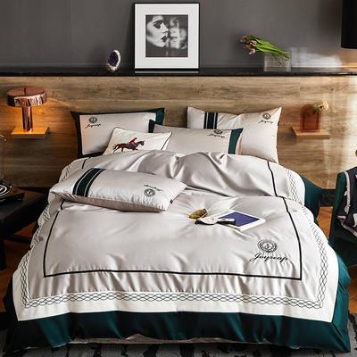 2020新款-轻奢商务系列四件套-可另配信封枕-有床笠款影棚图 可选配信封枕元/对 格拉德