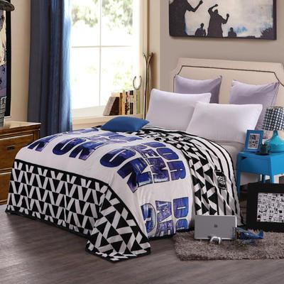 260克雪貂绒毛毯 加厚绒毯 休闲毯 盖毯 120×200 1浪漫雨夜