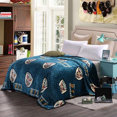 260克雪貂绒毛毯 加厚绒毯 休闲毯 盖毯 120×200 脸谱