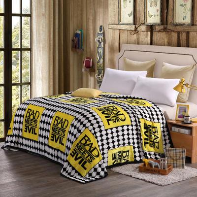 260克雪貂绒毛毯 加厚绒毯 休闲毯 盖毯 120×200 1遇见