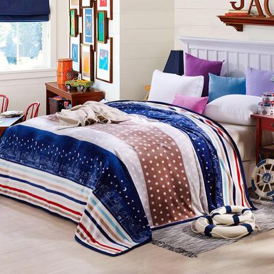 260克雪貂绒毛毯 加厚绒毯 休闲毯 盖毯 120×200 都市情缘