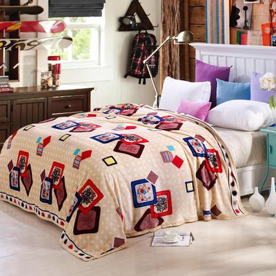 260克雪貂绒毛毯 加厚绒毯 休闲毯 盖毯 120×200 记忆相册