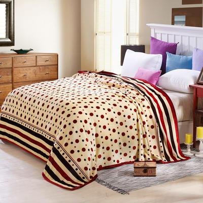 260克雪貂绒毛毯 加厚绒毯 休闲毯 盖毯 120×200 裸婚圆点