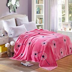 320克云貂绒毛毯 120×200 蒲公英