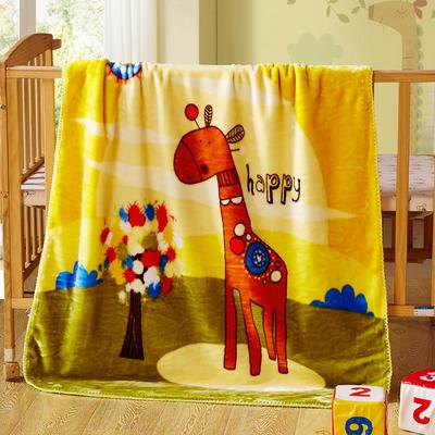 儿童云毯 小号100×120 长颈鹿