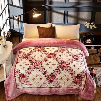 拉舍尔双层绒毯 200*230cm 繁花似锦