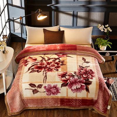 拉舍尔双层绒毯 200*230cm 如花似玉