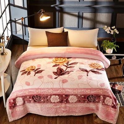 拉舍尔双层绒毯 200*230cm 一枝独秀