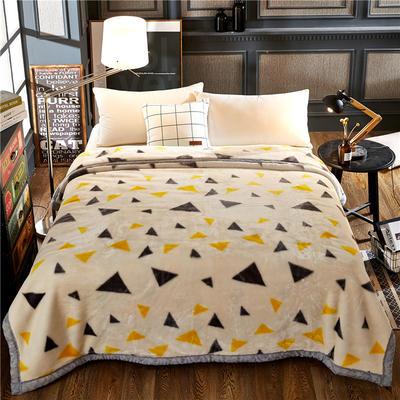 超柔拉舍尔毛毯 经典款双层毛毯 150*200 5斤 向往