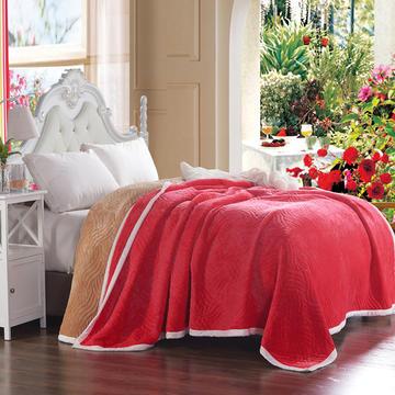 加厚双层夹棉复合毛毯