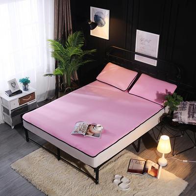 冰爽丝空调软席三件套 1.5m(5英尺)床 纯色浅粉