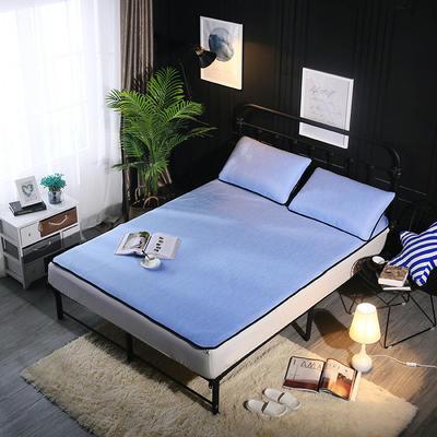 冰爽丝空调软席三件套 1.5m(5英尺)床 纯色浅蓝