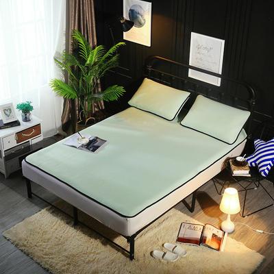 冰爽丝空调软席三件套 1.5m(5英尺)床 纯色浅绿