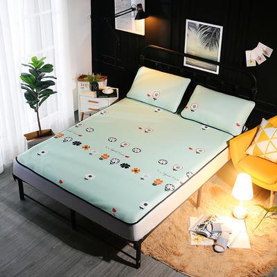 冰爽丝空调软席三件套 1.5m(5英尺)床 飞花绿