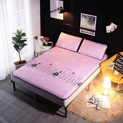 冰爽丝空调软席三件套 1.5m(5英尺)床 梦幻女孩粉