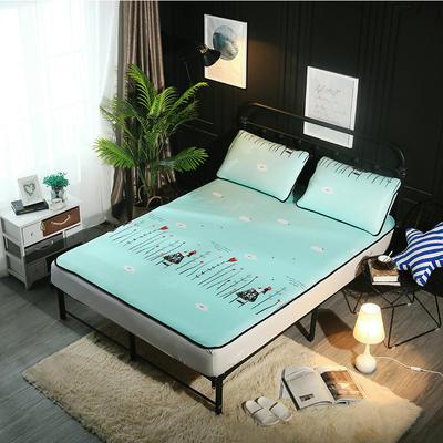 冰爽丝空调软席三件套 1.5m(5英尺)床 梦幻女孩绿