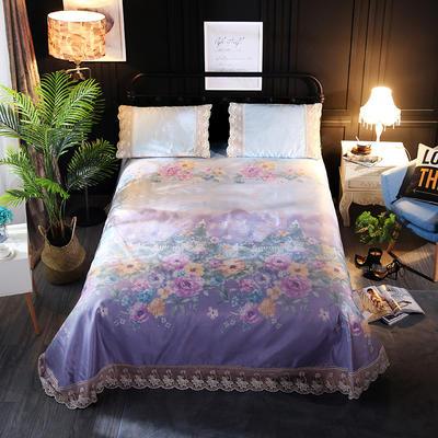 加厚蕾丝花边冰丝席 1.8m(6英尺)床 绚丽
