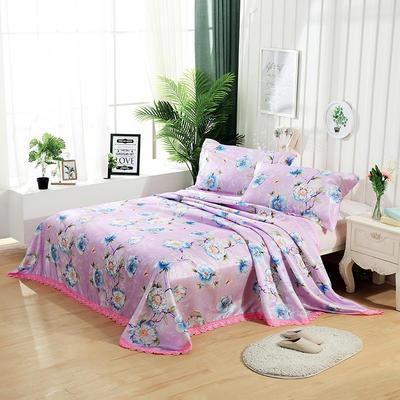 可水洗花边冰丝席三件套 1.5m(5英尺)床 繁花