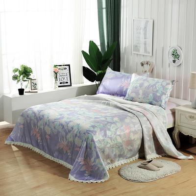 可水洗花边冰丝席三件套 1.8m(6英尺)床 浪漫
