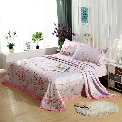 可水洗花边冰丝席三件套 1.8m(6英尺)床 温柔