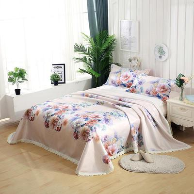 可水洗花边冰丝席三件套 1.8m(6英尺)床 优雅