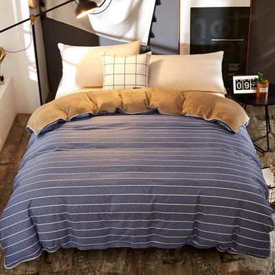 A版全棉B版加厚法兰绒被套单件 棉加绒 155*205cm 悠闲时光