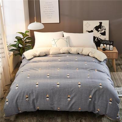 A版全棉B版加厚法兰绒被套单件 棉加绒 155*205cm 松林