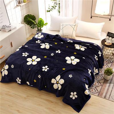 300克云貂绒毛毯 120*200cm 朵朵金花