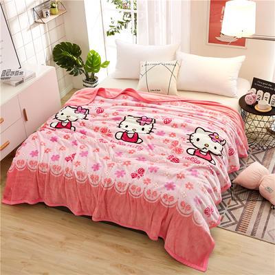 300克云貂绒毛毯 120*200cm 可爱猫咪