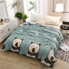 300克云貂绒毛毯 120*200cm 北极熊