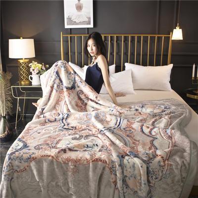 2018新款双层加厚天丝毯 180cm×200cm(6斤) 美丽印象