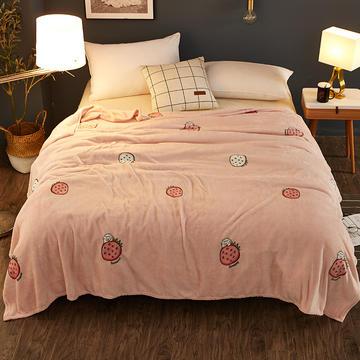 200克法莱绒毯 加厚珊瑚绒毛毯